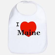 I Love Maine Bib