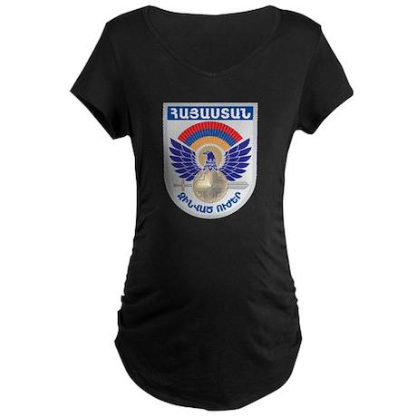 Armenian Military Seal Maternity Dark T-Shirt
