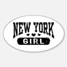 New York Girl Sticker (Oval)