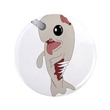 "Zombie Narwhal 3.5"" Button (100 pack)"