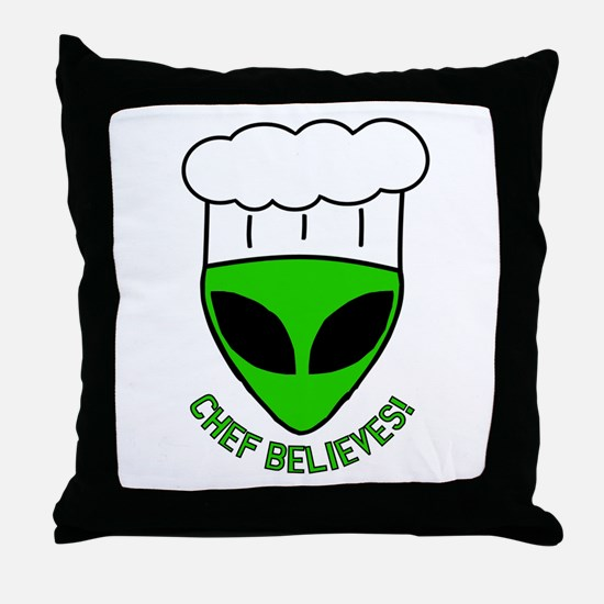 Chef Believes Throw Pillow