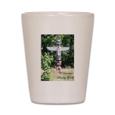 Stanley Park Totem Pole Shot Glass