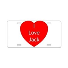 TW Love Jack Aluminum License Plate