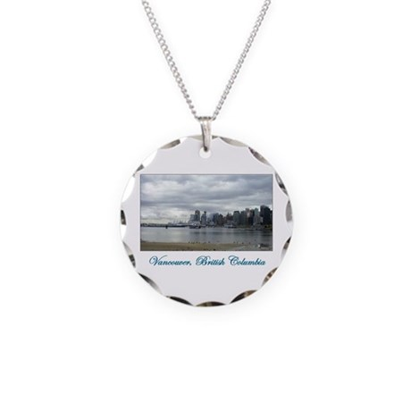 Downtown Vancouver BC Necklace Circle Charm