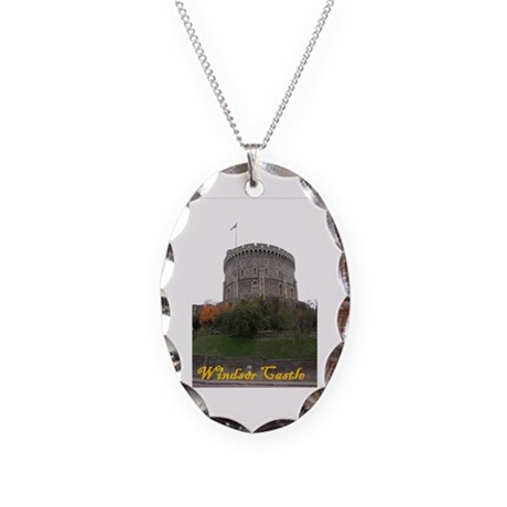 Windsor Castle Necklace Oval Charm