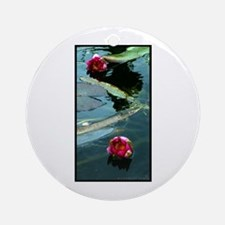 Water Lily Pair Round Ornament
