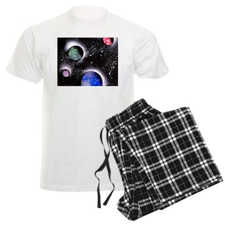 Outer Space Painting Men's Light Pajamas