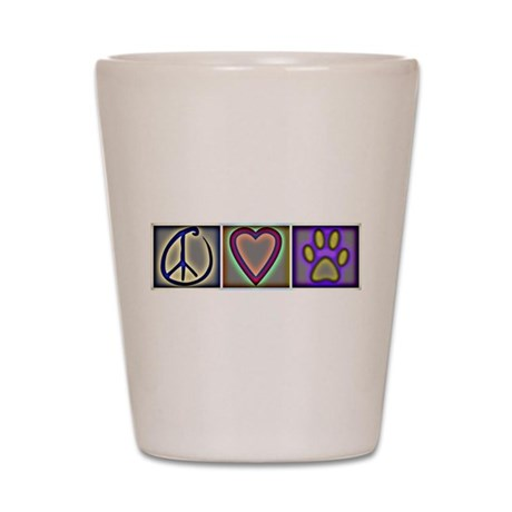 Peace Love Dogs - Shot Glass