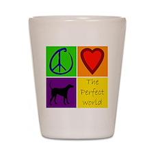 Perfect World: Black Lab Shot Glass