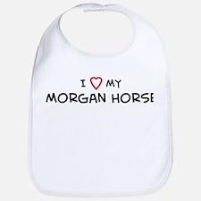 I Love Morgan Horse Bib