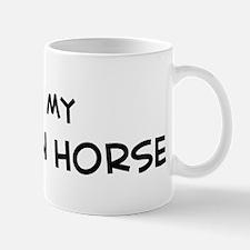 I Love Morgan Horse Mug