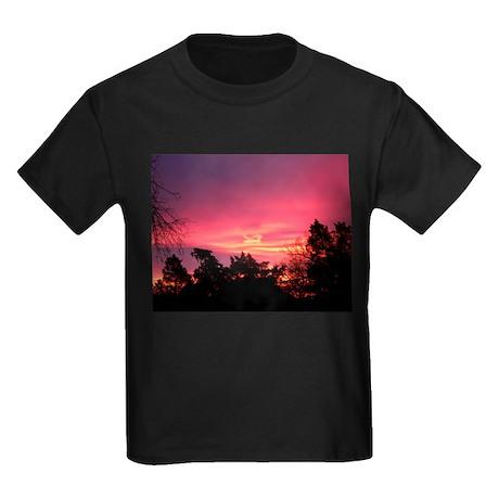 Pink Sunrise Kids Dark T-Shirt