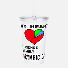 My Heart Friends Famil Acrylic Double-wall Tumbler