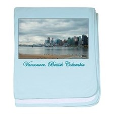 Downtown Vancouver BC baby blanket