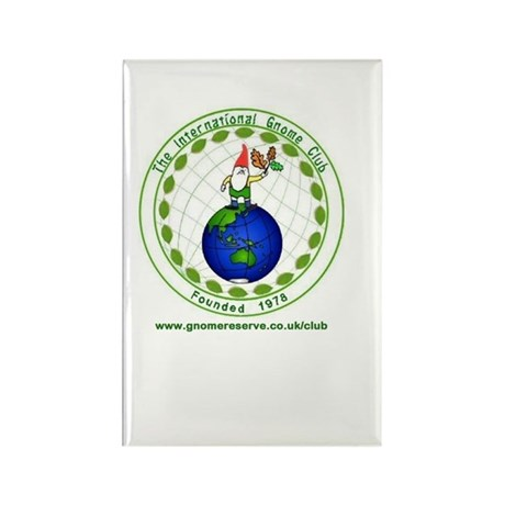 The International Gnome Club Rectangle Magnet
