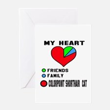 My Heart Friends Family Colorpoint S Greeting Card
