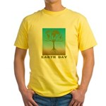 Earth Day World Tree Yellow T-Shirt