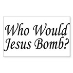 Jesus Bombs Rectangle Sticker