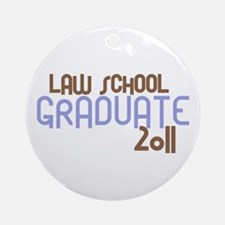 Law School Graduate 2011 (Retro Purple) Ornament (