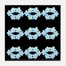Forget Me Not Tile Coaster