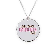 Law School Graduate 2011 (Retro Pink) Necklace