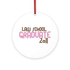 Law School Graduate 2011 (Retro Pink) Ornament (Ro