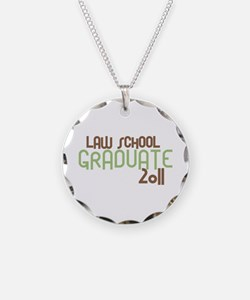 Law School Graduate 2011 (Retro Green) Necklace Ci