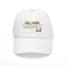 Law School Graduate 2011 (Retro Green) Baseball Cap