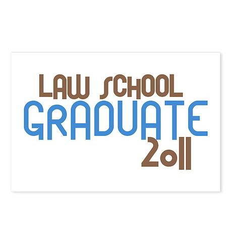 Law School Graduate 2011 (Retro Blue) Postcards (P