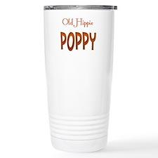 OLD HIPPIE POPPY Travel Coffee Mug