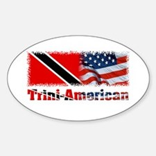 Trini-American Oval Decal