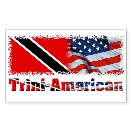 Trini-American Rectangle Sticker