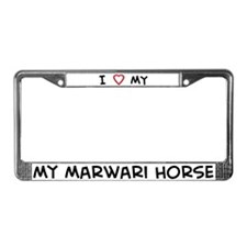 I Love Marwari Horse  License Plate Frame