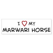 I Love Marwari Horse Bumper Bumper Sticker