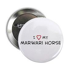 I Love Marwari Horse Button