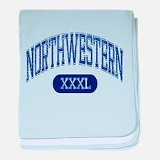 Northwestern baby blanket