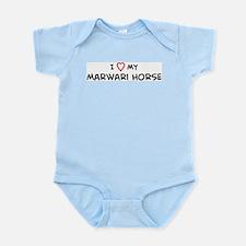 I Love Marwari Horse  Infant Creeper