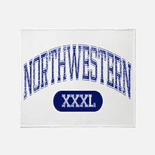 Northwestern Throw Blanket