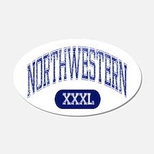 Northwestern 22x14 Oval Wall Peel