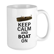 Keep Calm and Boat On Mug