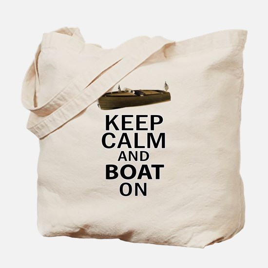 Keep Calm and Boat On Tote Bag