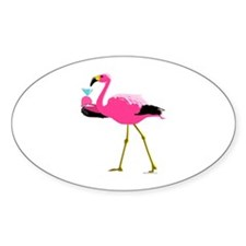 Pink Flamingo Drinking A Martini Decal