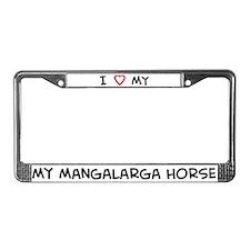 I Love Mangalarga Horse License Plate Frame