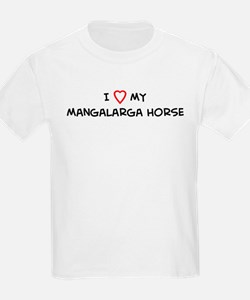 I Love Mangalarga Horse Kids T-Shirt