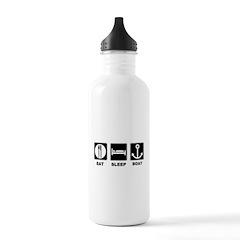 Eat Sleep Boat Water Bottle