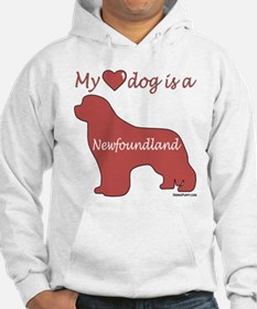 My Heart Dog is a Newf Hoodie
