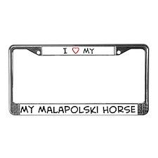 I Love Malapolski Horse License Plate Frame