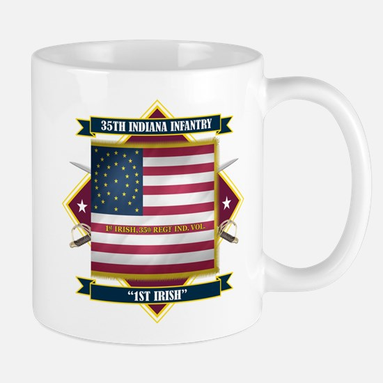 1st Irish, 35th Indiana Infan Mug