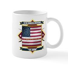 1st Irish, 35th Indiana Infan Mug