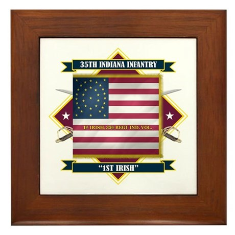 1st Irish, 35th Indiana Infan Framed Tile